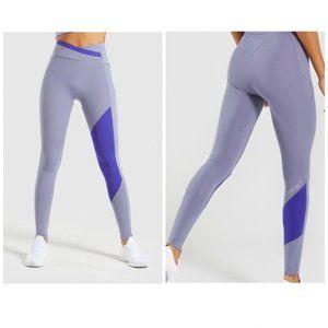 GymShark NWT Steel Blue/Indigo Asymmetric Leggings
